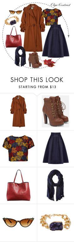 """26.09.2016"" by olgacontrast on Polyvore featuring мода, Marni, JustFab, Alice + Olivia, Coast, Under One Sky, Cole Haan, ZeroUV и Valerie Nahmani Designs"