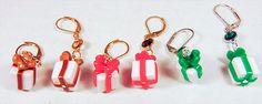 CHRISTMAS GIFT EARRINGS, Christmas earrings, Christmas jewelry, polymer clay earrings, polymer clay jewelry, gift charms, leverback - 1716C by EarringsBraceletsEtc on Etsy