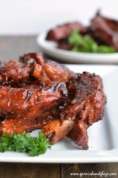 foody-goody:  Baby Back Ribs (Garnish & Glaze)