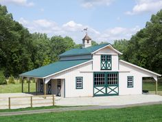 36 x 36 Monitor Barn with an 8 x 36 Lean-to on each side   Penn Dutch Structures