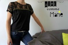Aime Comme Minute Aime Comme Marie, Couture Sewing, Couture Tops, Dit, T Shirts For Women, Cops, Fashion, Haute Couture, Denim Bag