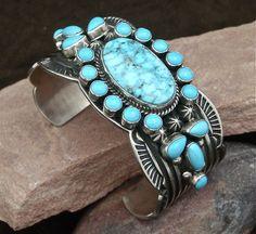 Turquoise Cuff Bracelet by Albert Jake