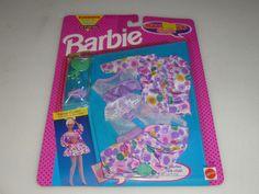 NEW ON CARD BARBIE MAGIC TALK CLUB FASHIONS SET NO 2148 MATTEL 1992 NOC VINTAGE  #Mattel