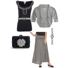 """Black and Grey"" by angie-roldan-taylor on Polyvore"