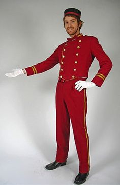 Billedresultat for bell boy costume Costume Garçon, Boy Costumes, Halloween Costumes, Wicked Costumes, Halloween 2018, Halloween Stuff, Staff Uniforms, Boys Uniforms, Butler Costume