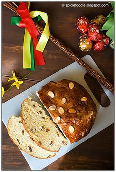 Mazanec Czech Easter Bread; Mazanec; Czech; Easter; Bread; recipe; raisins; rum; almonds; Spicie Foodie; blog; food blogger; baked; dessert; breakfast; tea cakes; tea breads