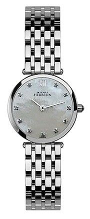 Michel Herbelin Ladies Mother Of Pearl Dial Classic Bracelet Watch Grand Format, Diamond Engagement Rings, Bracelet Watch, Watches For Men, Wedding Rings, Pearl, Jewels, Classic, Bracelets