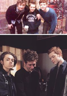 Look at the Gallagher's boys how much they've grown up, awww, I love them sm Carl Shameless, Shameless Memes, Shameless Tv Show, Shameless Season, 3 Jokers, Carl Gallagher, Mickey And Ian, Cameron Monaghan, Film Serie