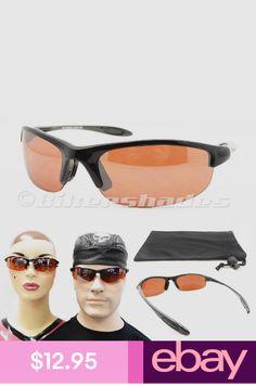 1a018690bebe HD Blue Blocking Wrap Sunglasses Golf Cycle Driving Running Anti Glare Men  Women