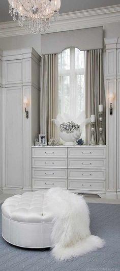 LOVE THE CLOSET all white via Sparkly Gold/BellaDonna