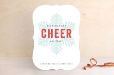 Snow Cheer by Olivia Raufman at minted.com