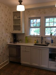 Barker kitchen--made uppers look more inset