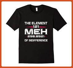 Mens The Element Meh Of Indifference Funny Chemistry Teacher Gift Large Black - Careers professions shirts (*Partner-Link)