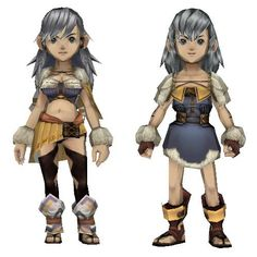 [Final Fantasy Crystal Chronicles] Selkie Male & Female - DePapercraftBlog