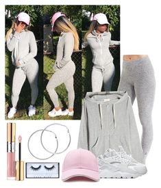"""♥️♥️♥️"" by reinlove ❤ liked on Polyvore featuring Cuddl Duds, American Vintage, NIKE, Forever 21, Melissa Odabash, Yves Saint Laurent and Huda Beauty"