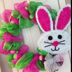 Easter Bunny Deco mesh wreath!