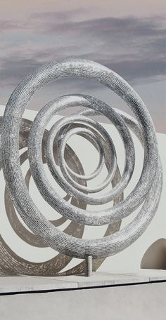 Intertwine metal sculpture