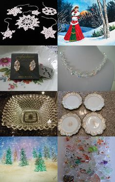Winter Frost Treasury formTeamVintageUSA by Janelle Campbell on Etsy--Pinned with TreasuryPin.com