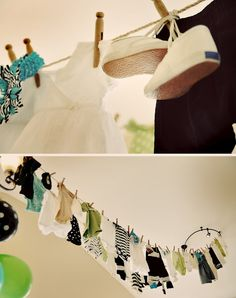 Baby Shower Clothes line!
