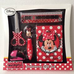 minnie mouse stationery gift set ,