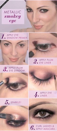 Need a new smoky eye to try out? This metallic smoky eye will revamp your friday night makeup. Here's how to get this chic eye makeup look.