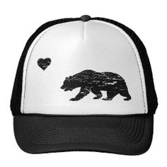 f4f57a14904 Vintage Black California Love Trucker Hat Snapback Hats