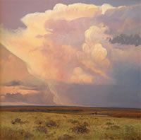 Judith Mackey  Judith Mackey has been a professional artist for over 40 years. A native Kansan who still resides in the Flint Hills, she paints what she is most familiar with—landscapes of the prairie, working cowboys and the ranch life that surrounds her rural Chase County home.