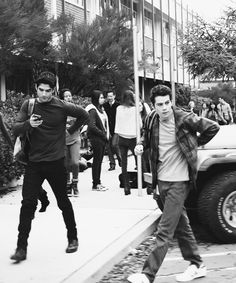 Scott McCall and  Stiles Stilinski Tyler Posey and Dylan O'Brien
