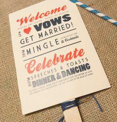 rustic wedding program fan, rustic wedding invitation, wedding stationery on Etsy, $1.00