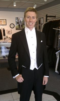 One of my handsome grooms in his tux from Saget's Formal Wear.