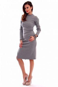 1a1c93685b Sukienka ołówkowa midi szara od CosmosModa    kup teraz!    sklep online