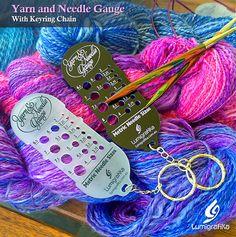 Yarn and Needle Gauge (Metric sizes) Needle Gauge, Yarn Needle, Needles Sizes, Creative Studio, Gauges, Tools, Knitting, Unique Jewelry, Handmade Gifts