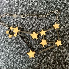 Tatty Devine, Constellation Necklace, Recycled Materials, Constellations, Recycling, Brooch, Jewellery, Random, Pretty