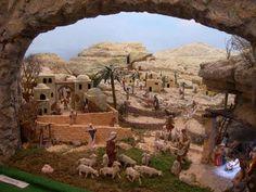 Christmas Nativity Scene, Christmas Villages, Christmas Decorations For The Home, Christmas Crafts, Fontanini Nativity, Diy Crib, Environment Design, Model Trains, Portal