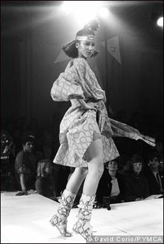 A model at Vivienne Westwood's 'pirate' fashion show, 1981 - adorable outfit