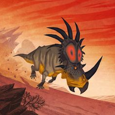 Josef Egerkrans | Styracosaurus