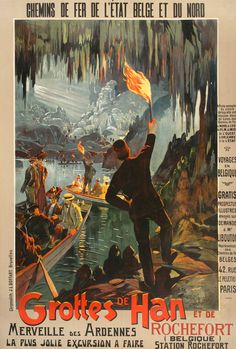 Original Vintage Poster Grottes de Han by Reckziegel c1905 Austria Alps      Item specifics     Condition:        Used: An item that has been used previously. See the seller's listing for full details and description of     ...