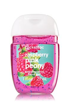 Raspberry Pink Peony - PocketBac Sanitizing Hand Gel - Bath & Body Works - Now with more happy! NEW PocketBac is perfectly shaped for pockets & purses, making it easy to fight germs on-the-go! Plus, our all-new skin softening formula contains powerful ger Bath Body Works, Bath N Body, Victorias Secret Cremas, Fragrance Lotion, Bath And Bodyworks, Perfume, New Skin, Shower Gel, Body Wash