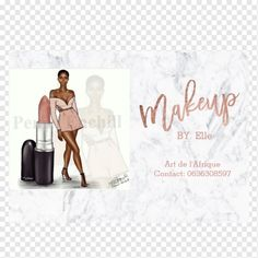 An elegant,modern, stylish makeup artist business card with stylish script hand lettering style typography in faux rose gold foil on a trendy and elegant white marble background. If you need any customization, don't hesitate in contacting me