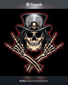 Rock Tattoo, Body Art Tattoos, Rock And Roll, Pirate Skull Tattoos, Motion Wallpapers, Indian Skull, Skull Pictures, Skull Wallpaper, Galaxy Wallpaper