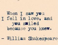 The kind of love that requires no words by William Shakespeare [ love, love at first sight, being in love, quotes about love ]