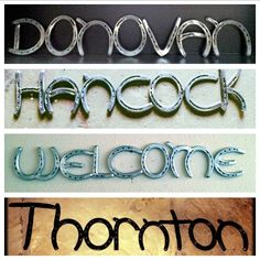 Custom made horseshoe signs!