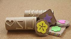 Una manera fácil y rápida para hacer sellos y decorar cualquier proyecto de manualidades. Un buen plan para hacer con los niños.
