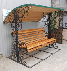 75 Pretty Awesome Garden Swing Seats Ideas for Backyard Relaxing - Decoradeas Iron Furniture, Garden Furniture, Furniture Design, Outdoor Furniture, Outdoor Decor, Garden Swing Seat, Yard Swing, Wrought Iron Decor, Iron Doors