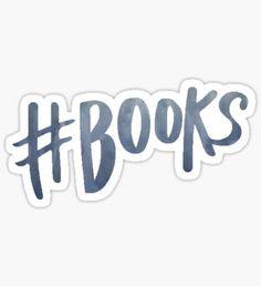 #Books | Watercolor Typography Tumblr/Trendy Sticker