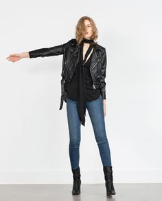 Image 1 of FAUX LEATHER JACKET from Zara