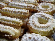 Recepti iz moje bilježnice: Keksi na mašinu Spritz Cookie Recipe, Spritz Cookies, Cookie Recipes, Christmas Baking, Christmas Cookies, Czech Recipes, Mini Cakes, Cookie Dough, Nutella
