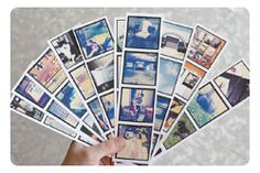 cell phone pics printed to look like photo booth strips.