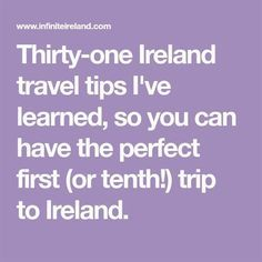 Thirty-one Ireland travel tips Ive learned, so you can have the perfect first (or tenth!) trip to Ireland. World Nomads vs Safetywing Overseas Travel, New Travel, Travel Alone, Travel Style, Family Travel, Travel Tips, Travel Destinations, Travel Ideas, Family Trips