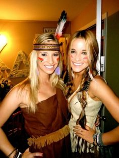 KD's in costume ~ so cute! cowboy & indian mixer. halloween idea